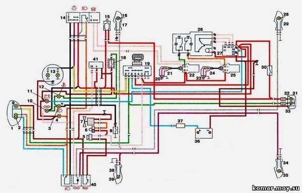 Монтажная электрическая схема иж 6 113